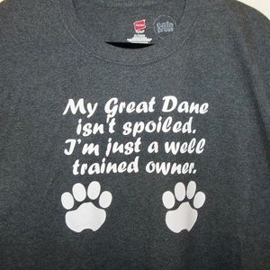 Great Dane mens t-shirt XL dog paw prints